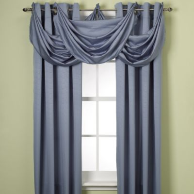 Insola® Odyssey Insulating Waterfall Window Valance in Slate Blue