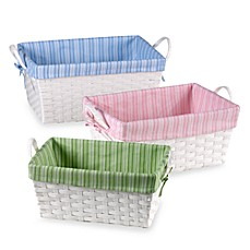 Natural String Basket with Stripe Liner