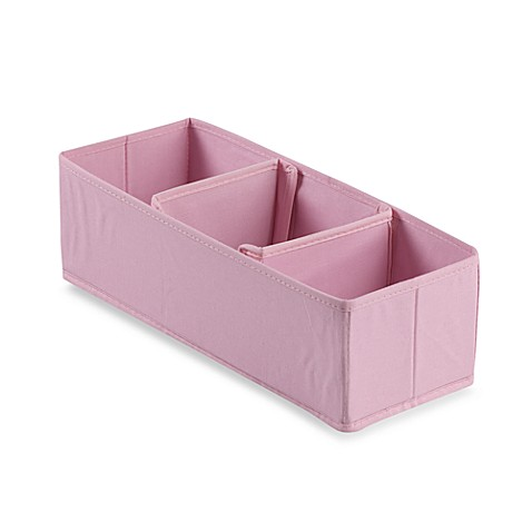 3-Section Nursery Organizer in Pink
