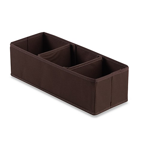 3-Section Nursery Organizer in Chocolate