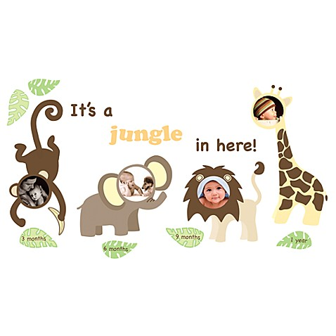 WallPops!® First Year Frames Jungle Wall Decals