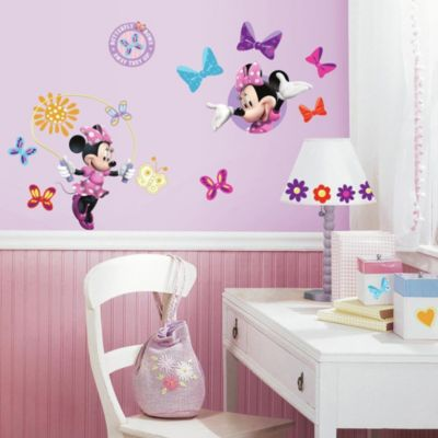 "Roomates Minnie Mouse ""Bow-Tique"" Peel & Stick Wall Decals"