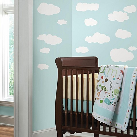 White Clouds Peel & Stick Wall Decals