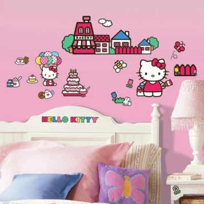 Roomates Hello Kitty Peel & Stick Wall Decals