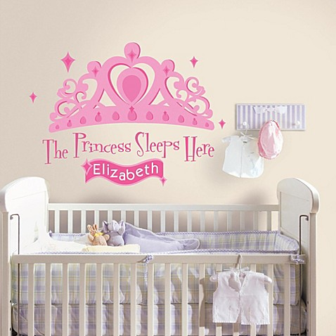 Roomates Princess Sleeps Here Peel & Stick Decal