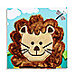 Studio Arts Kids Lion Embellished Wall Art