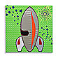 Studio Arts Kids Rocket Ship Embellished Wall Art
