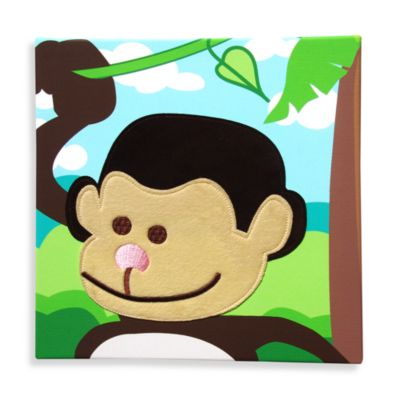 Studio Arts Kids Monkey Embellished Wall Art