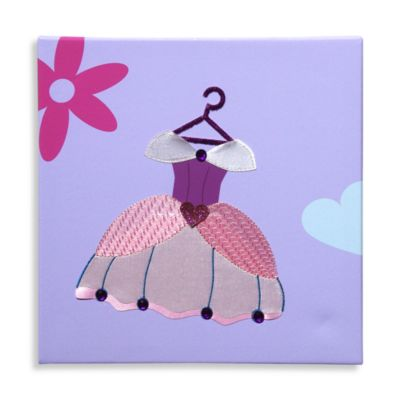 "Studio Arts Kids ""Her Majesty"" Dress Embellished Wall Art"