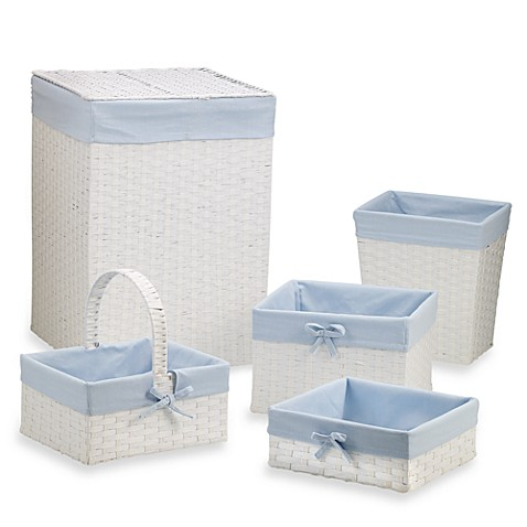 5-Piece Paper Rope Hamper Set - Blue