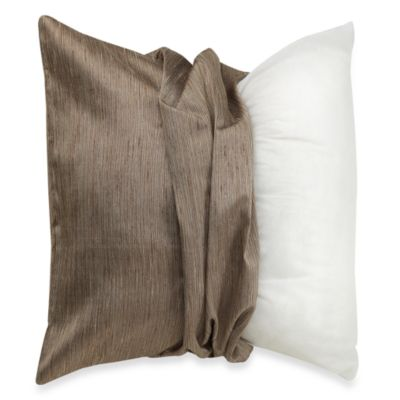MYOP Raw Silk 20-Inch Square Toss Pillow Cover in Taupe