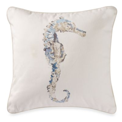 Madeira 18-Inch Square Seahorse Throw Pillow