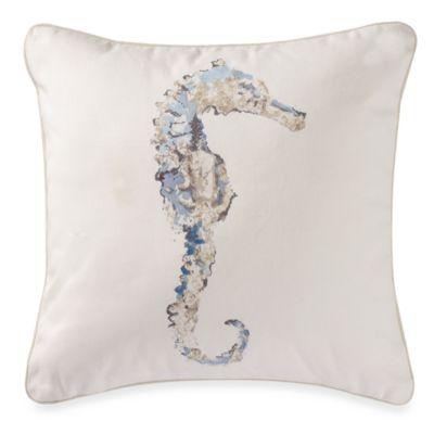 Madeira 18-Inch Square Seahorse Throw Pillow