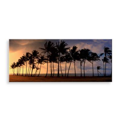 Palm Paradise Canvas Print 58-Inch x 18-Inch Wall Art