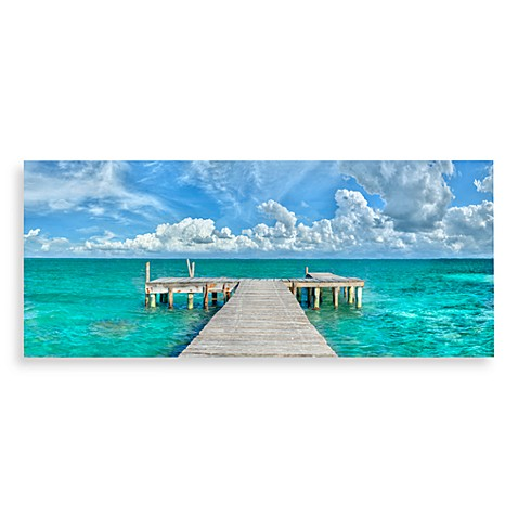 Dock Of The Bay Canvas Print 58 Inch X 18 Inch Wall Art
