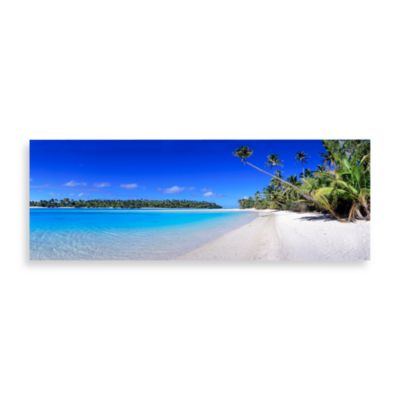 Blue Lagoon Canvas Print 58-Inch x 18-Inch Wall Art
