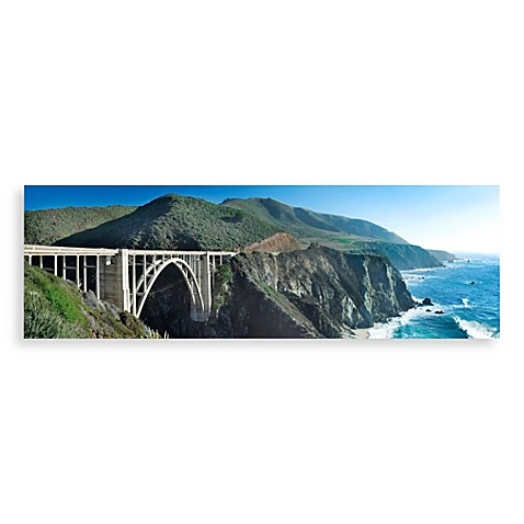 Bixby Bridge Canvas Print 58-Inch x 18-Inch Wall Art