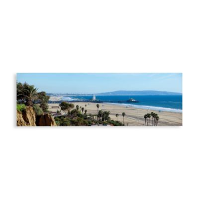 Santa Monica Pier Canvas Print 58-Inch x 18-Inch Wall Art