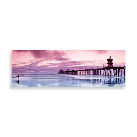 Huntington Beach Bliss Canvas Print 58-Inch x 18-Inch Wall Art