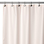 Aqua Tec Fabric Shower Curtain Liner in Ivory