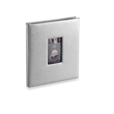 Bonded Leather 5-Up Photo Album in Silver