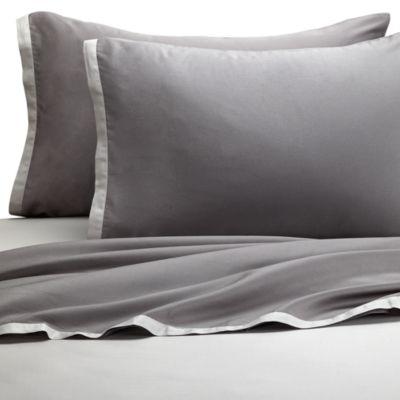 KAS® Two Tone Light Grey/Dark Grey Sheet Set