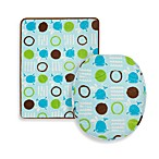 Aquatopia™ Whale Blue Memory Foam Bath Mat and Lid Cover Set