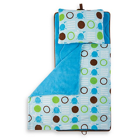 Aquatopia™ Whale Blue Memory Foam Nap Mat with Pillow