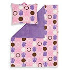 Aquatopia™ Hippo Pink Pillow and Blanket Set