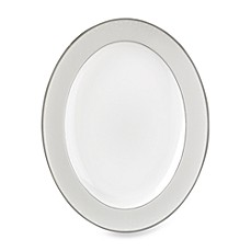 Monique Lhuillier Waterford® Pointe d'esprit 13 1/2-Inch Oval Platter