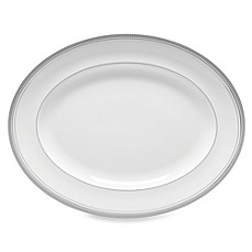 Monique Lhuillier Waterford® Platine 13 1/2-Inch Oval Platter