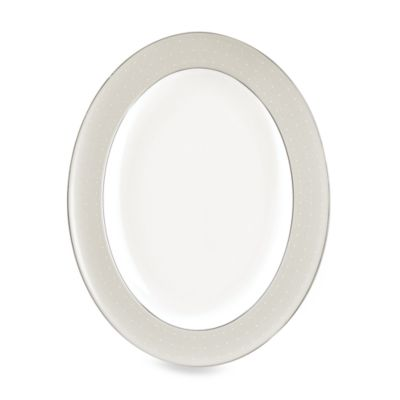 Monique Lhuillier Waterford® Etoile Platinum 13 1/2-Inch Oval Platter