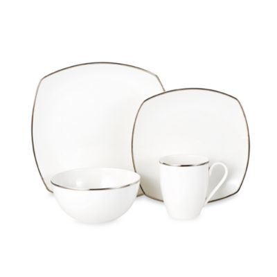 Mikasa® Cameo Platinum Square 4-Piece Place Setting