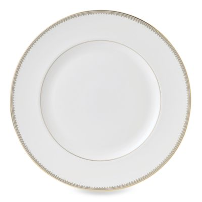 Vera Wang Wedgwood® Golden Grosgrain 10 3/4-Inch Dinner Plate