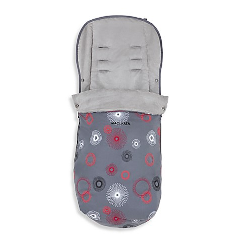 Maclaren® Universal Fashion Footmuff in Charcoal Spiro