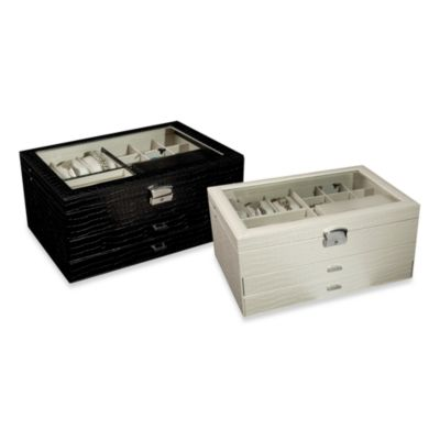 Black Leather Storage Box