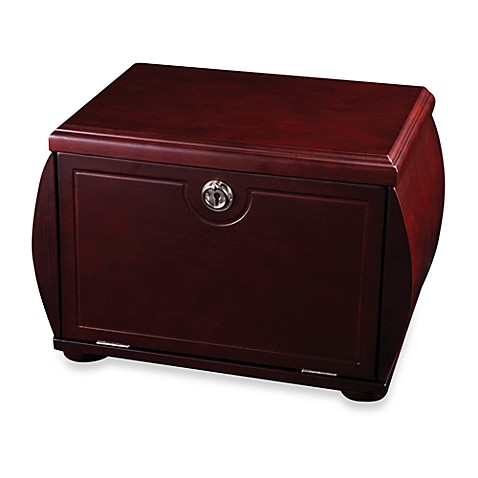Mele & Co. Drop Front Jewelry Box - Odessa - Mahogany