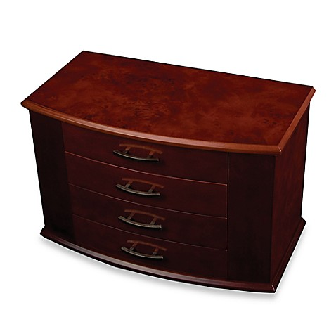 Mele & Co. Upright Jewelry Box  Meredith  Walnut
