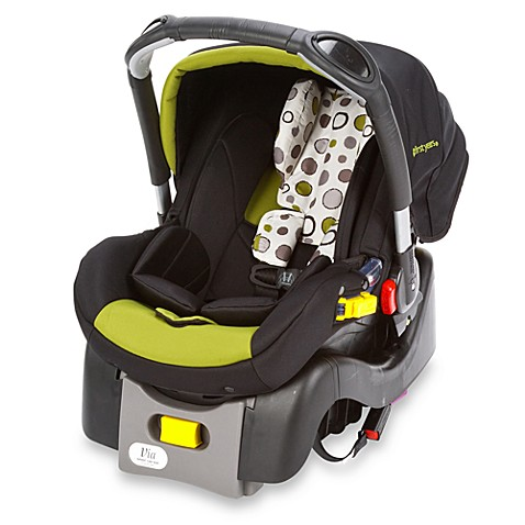 The First Years by Tomy Via I470 Infant Car Seat in Abstract Os Black/Green
