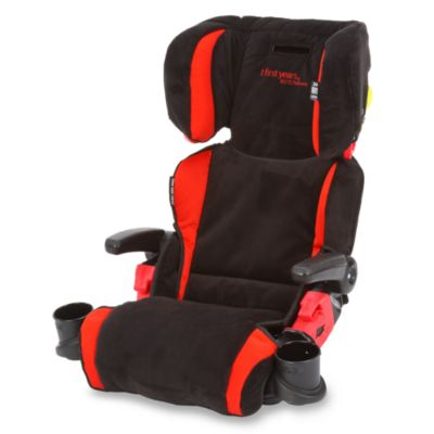 The First Years by Tomy Compass B570 Pathway Booster Car Seat in Black & Red
