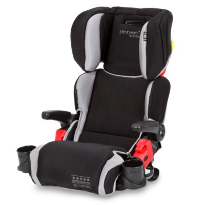 The First Years by Tomy Compass B570 Pathway Booster Car Seat in Sticks N Stones Black & Grey