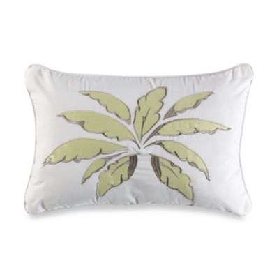 Island Leaves Breakfast Toss Pillow
