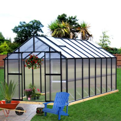 Riverstone Monticello Black 8-Foot x 20-Foot Residential Greenhouse