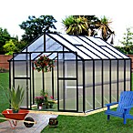 Riverstone Monticello 8-Foot x 12-Foot Residential Greenhouse in Black