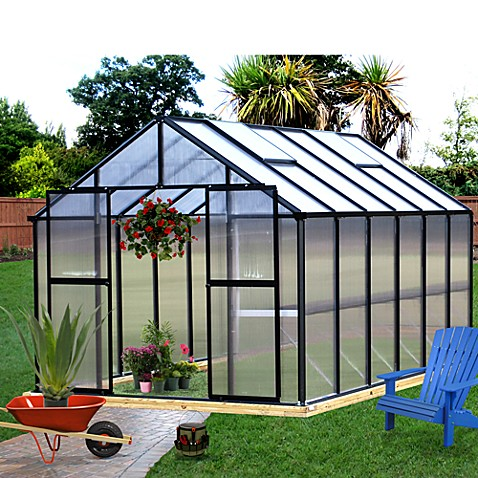 Riverstone Monticello Black 8-Foot x 12-Foot Residential Greenhouse