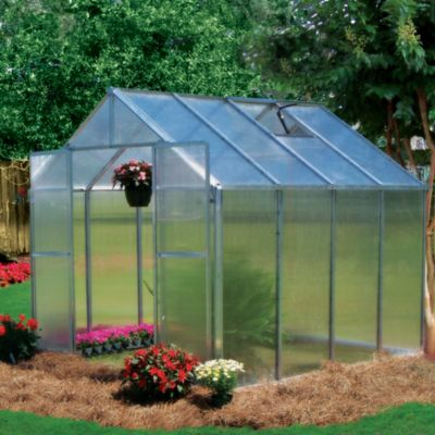 Riverstone Monticello 8-Foot x 8-Foot Extruded Aluminum Residential Greenhouse