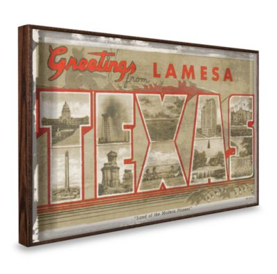 Vintage Greetings from LamesaTexas Wall Plaque
