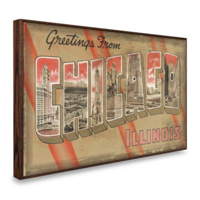 Vintage Greetings from Chicago Wall Plaque