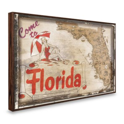 Vintage Greetings from Florida Wall Plaque