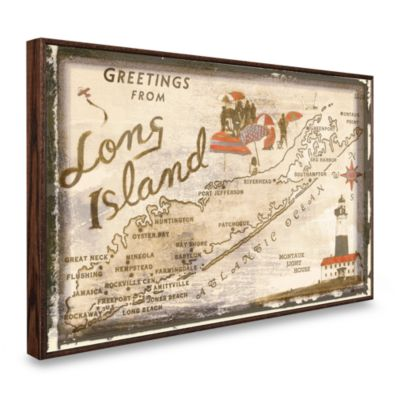 Vintage Greetings from Long Island Wall Plaque